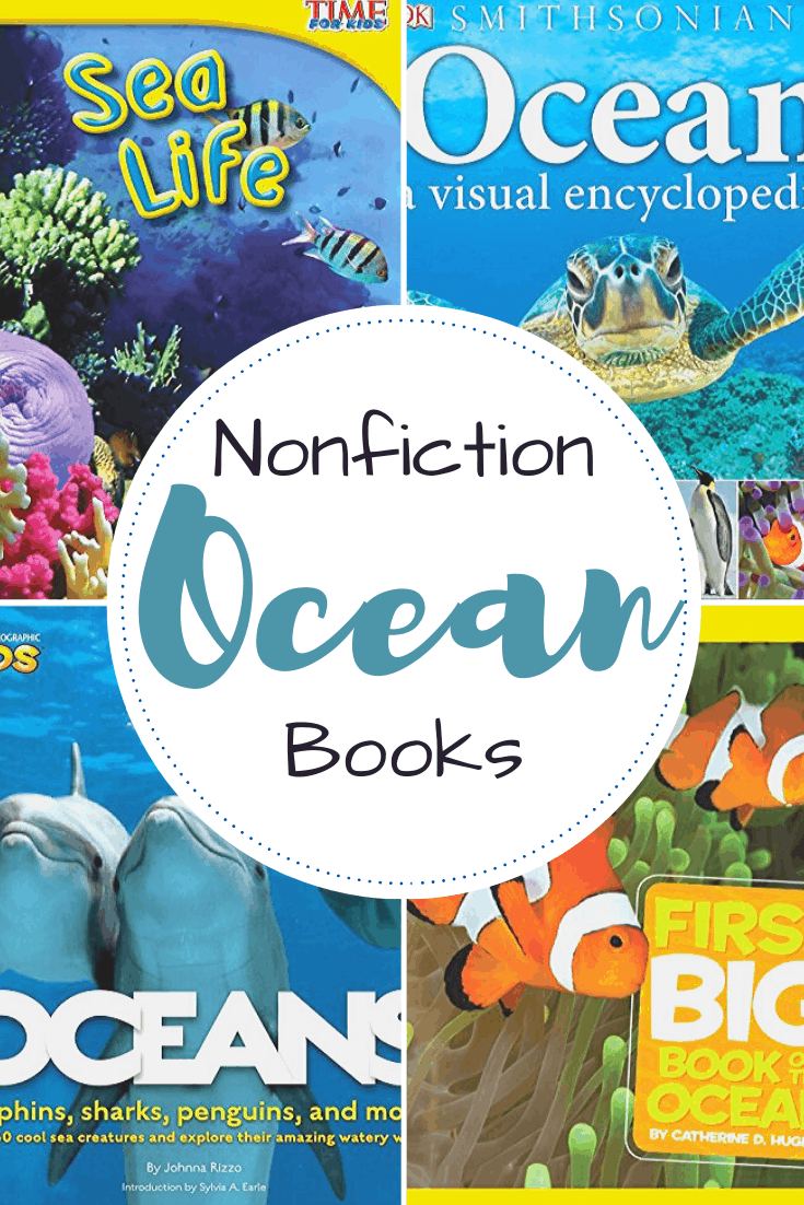 This collection of nonfiction books about the ocean is perfect for kids ages 3-10! Learn more about the ocean and the animals that live in it.
