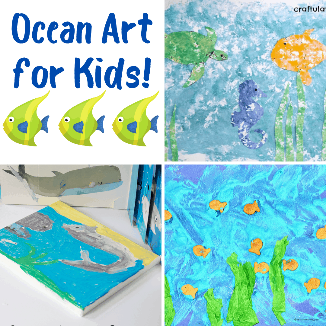 This summer, plan to present these ocean preschool art projects to your little ones. They're perfect for home and classroom use!