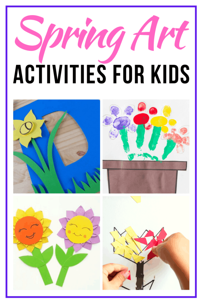 Do you want to help your preschoolers express their creativity? Try one or more of these spring art activities for preschoolers!