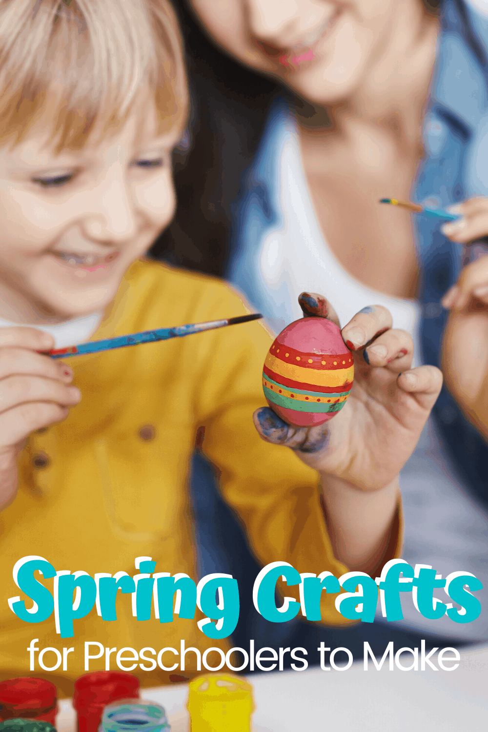 Celebrate all things spring (including holidays) with one or more of these adorable spring crafts for preschoolers. They're so much fun!