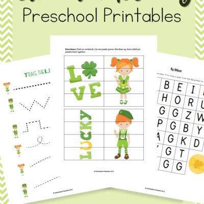 St Patricks Day Preschool Printable
