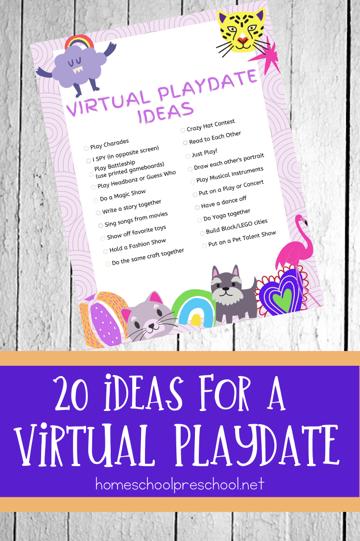Are your kids bored already? These virtual playdate ideas are a great way to let kids of all ages connect while keeping their distance from others.