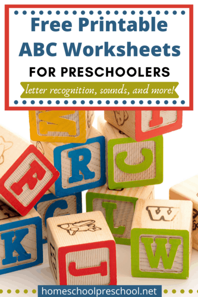 These free printable alphabet worksheets are the perfect way to engage young learners with handwriting practice, beginning sounds, letter recognition, and more!