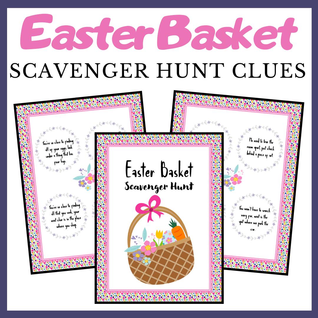 This Easter, make memories by sending your kids on an Easter Egg Scavenger Hunt! Free printable scavenger hunt clues make it easy!