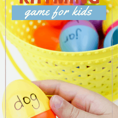 Easter Egg Rhyming Words Game