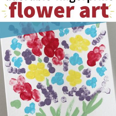 Fingerprint Flower Art