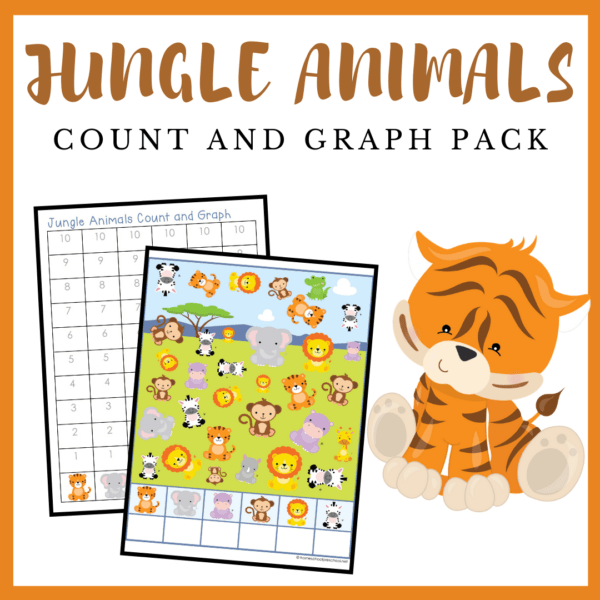 This jungle animals count and graph activity is a great way to practice counting and graphing skills all year long!