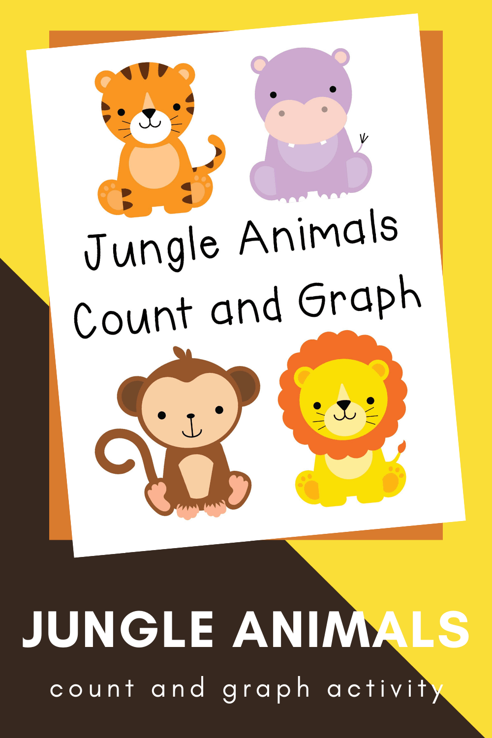 Be sure to add these fun jungle animal count and graph worksheets to your preschool activities! They're perfect any day of the year!