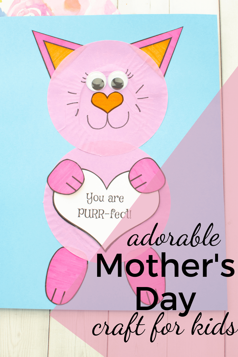 Moms will adore this cupcake liner Mother's Day craft for preschool kiddos to make. The free printable template makes it so easy to create!