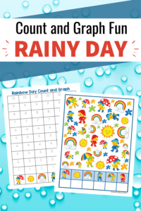 Be sure to add these fun rainy day count and graph worksheets to your preschool activities! They're perfect for spring and summer days.