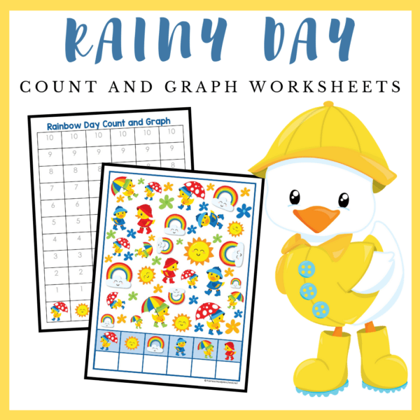 This rainy day count and graph activity is a great way to practice counting and graphing skills during the spring and summer.