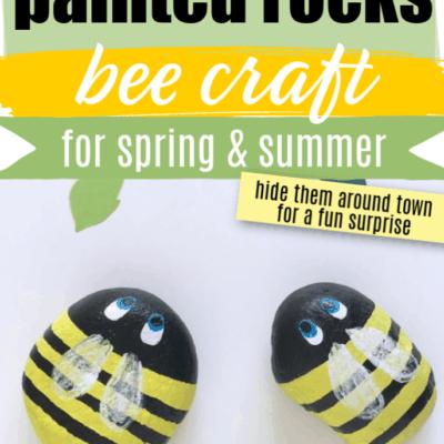 Painted Rocks Easy Bee Craft
