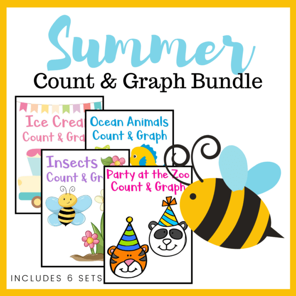 These colorful summer count and graph worksheets are a great way to practice counting and graphing skills all season long. Includes 6 themes.