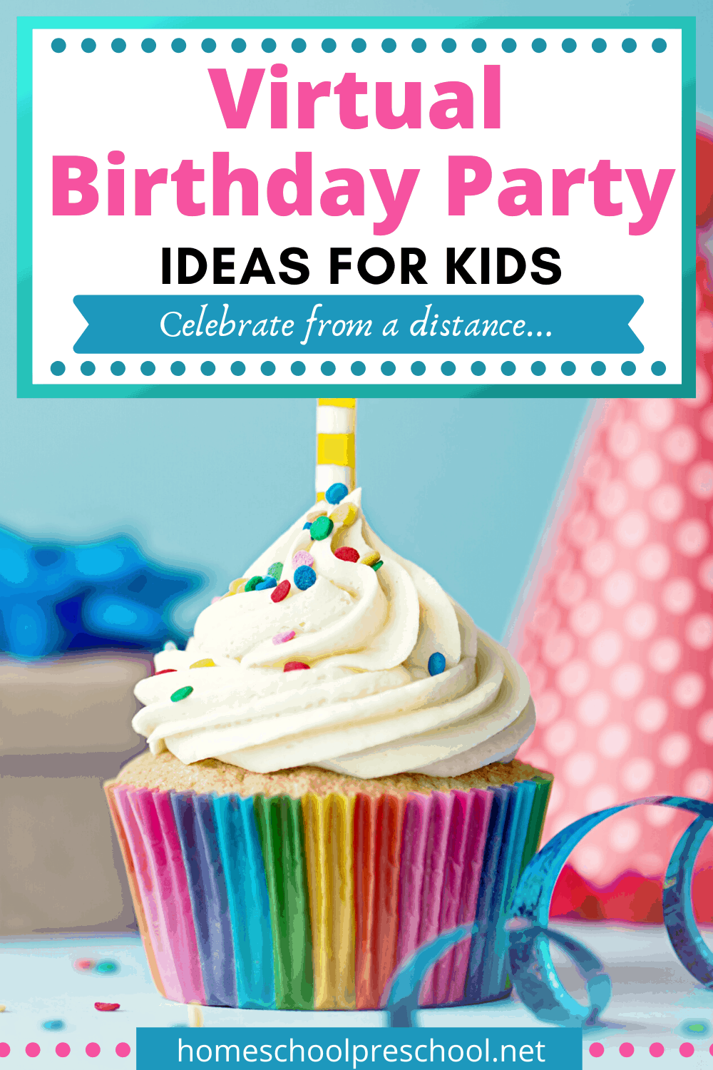 These virtual birthday party ideas are a great way to create a special day when you can't be together! Long distance parties provide a unique way to celebrate.