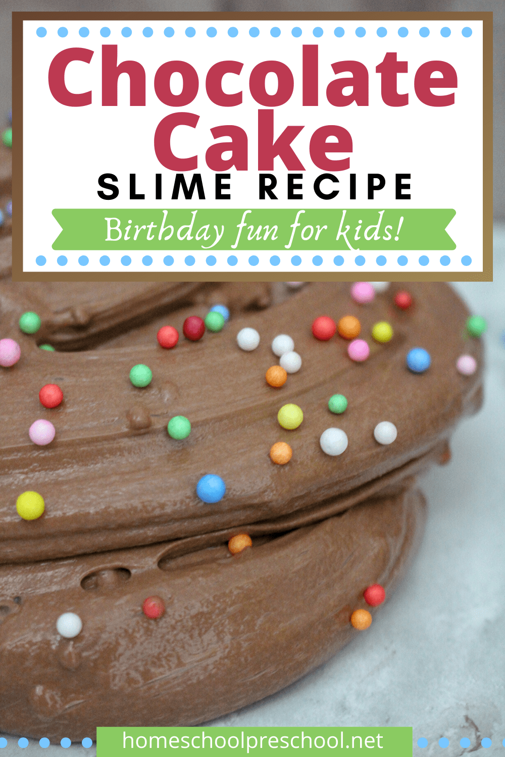 You won't believe how simple it is to whip up a batch of slime with this birthday cake slime recipe! It's perfect for birthday parties and playdates.