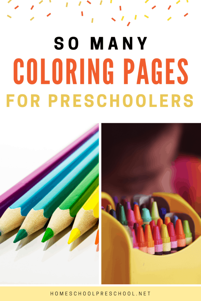 These Preschool Coloring Pages are the perfect addition to your preschool unit studies or quiet time activities. Don't miss these awesome free printables!
