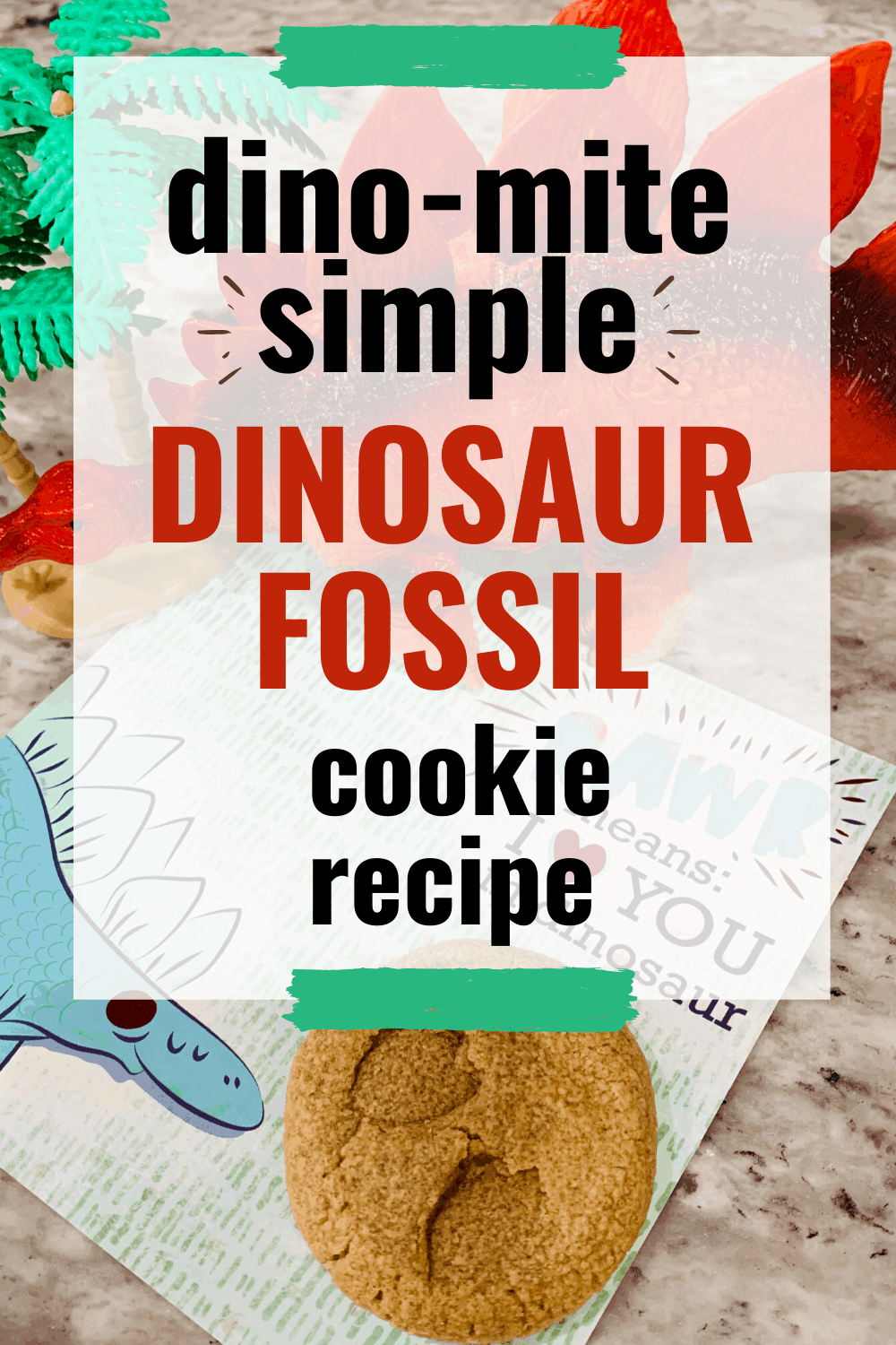 You won't believe how easy it is to mix up a batch of dinosaur cookie fossils with your preschooler! They'll love this dino-mite snack idea!