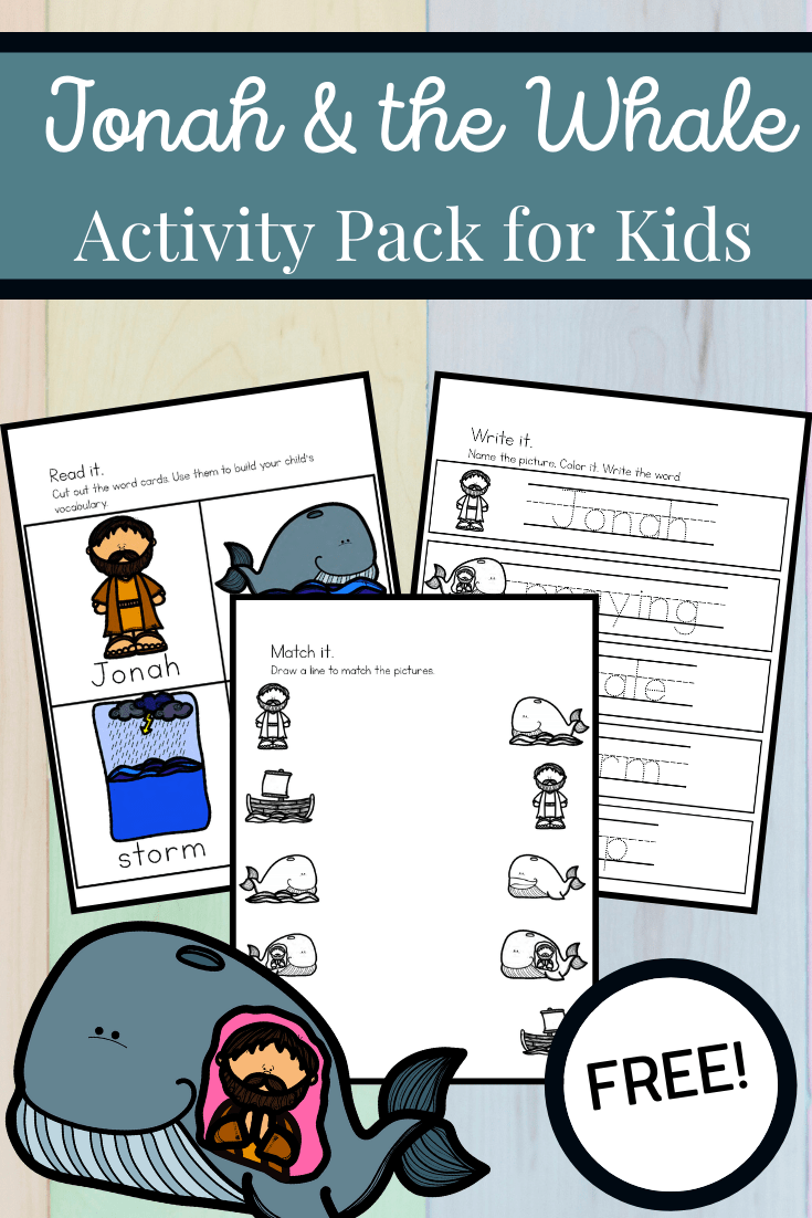 This pack of Jonah and the Whale preschool printables will help you extend the learning after reading your favorite version of the Bible story.