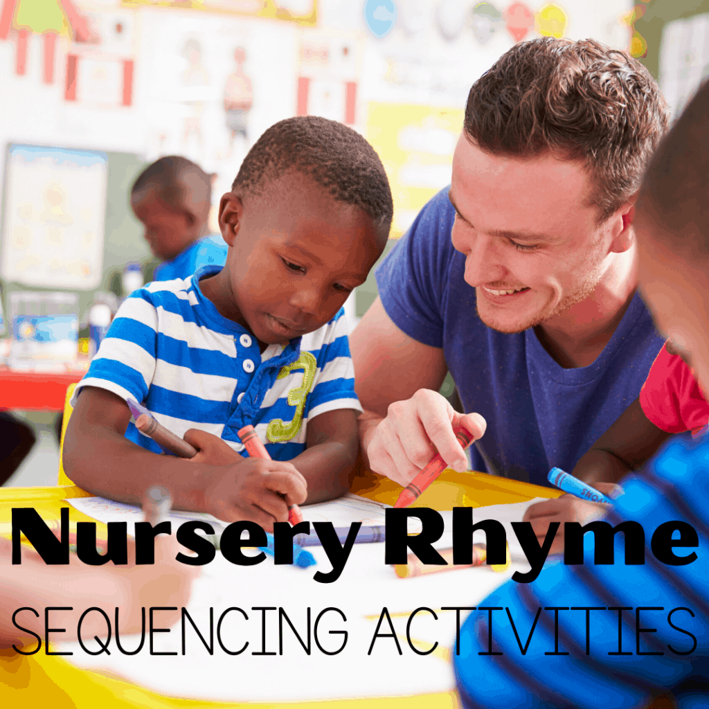 Introduce story sequencing with these printable nursery rhyme sequencing activities for preschool, pre-k, and kindergarten.