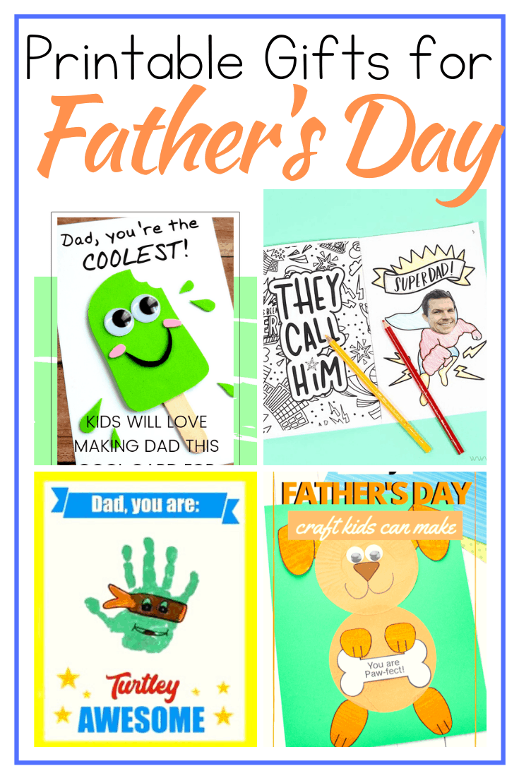 Download and print the free templates featured here, and your kids can show Dad some love with these printable Father's Day crafts!