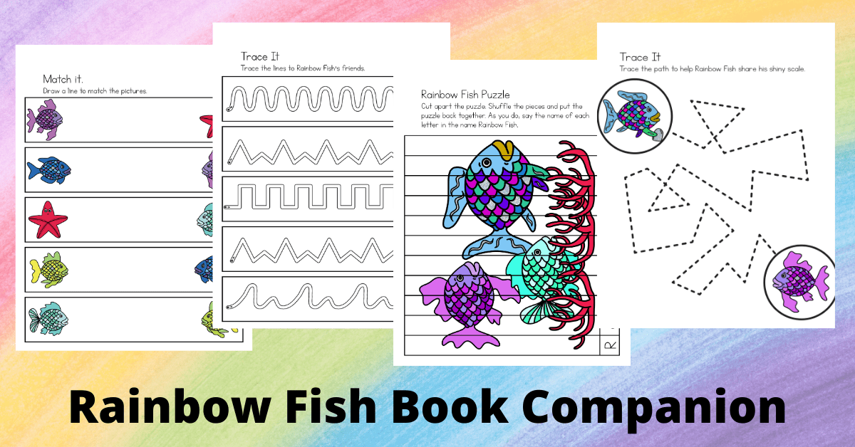 Rainbow Fish Book Printables For Preschoolers