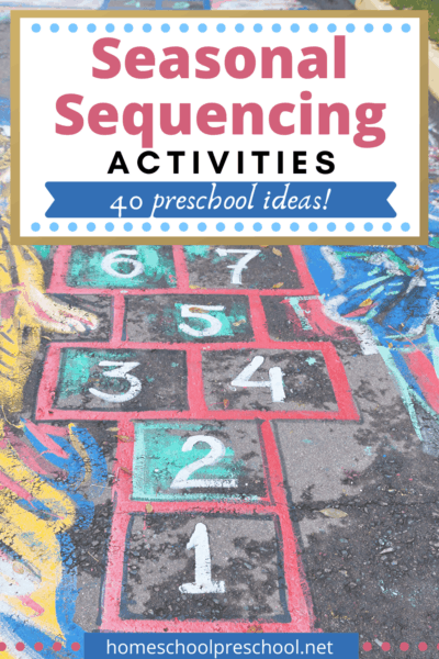 Discover more than 40 seasonal sequencing activities for preschoolers! Find activities for holidays and seasons all year long.