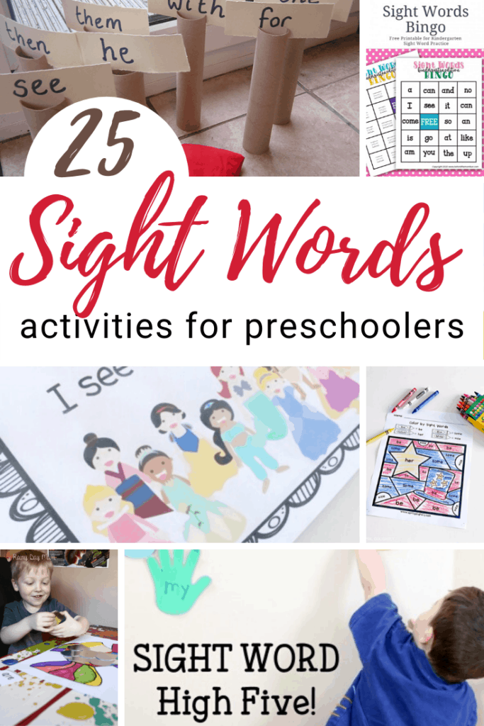 After your little ones recognize letters and their sounds, it's time to start learning to read. Here are some great preschool sight words activities to get you started!