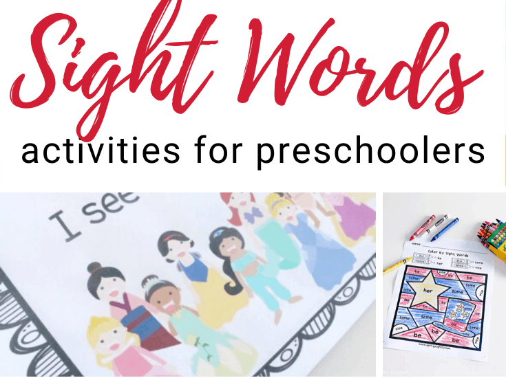 After your little ones recognize letters and their sounds, it's time to start learning to read. Here are some great sight word activities for preschoolers!