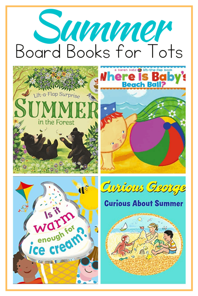 As the weather warms up, fill your shelves with summer books for toddlers.  Introduce your little ones to summer with this amazing collection of board books!