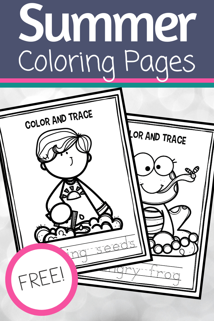 These summer coloring pages are perfect for preschoolers! They can color the pictures and practice their writing skills at the same time.
