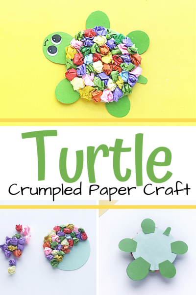 Crumpling paper is a great fine motor activity for preschoolers. They can try it out with this adorable turtle craft for kids that's perfect for summer!
