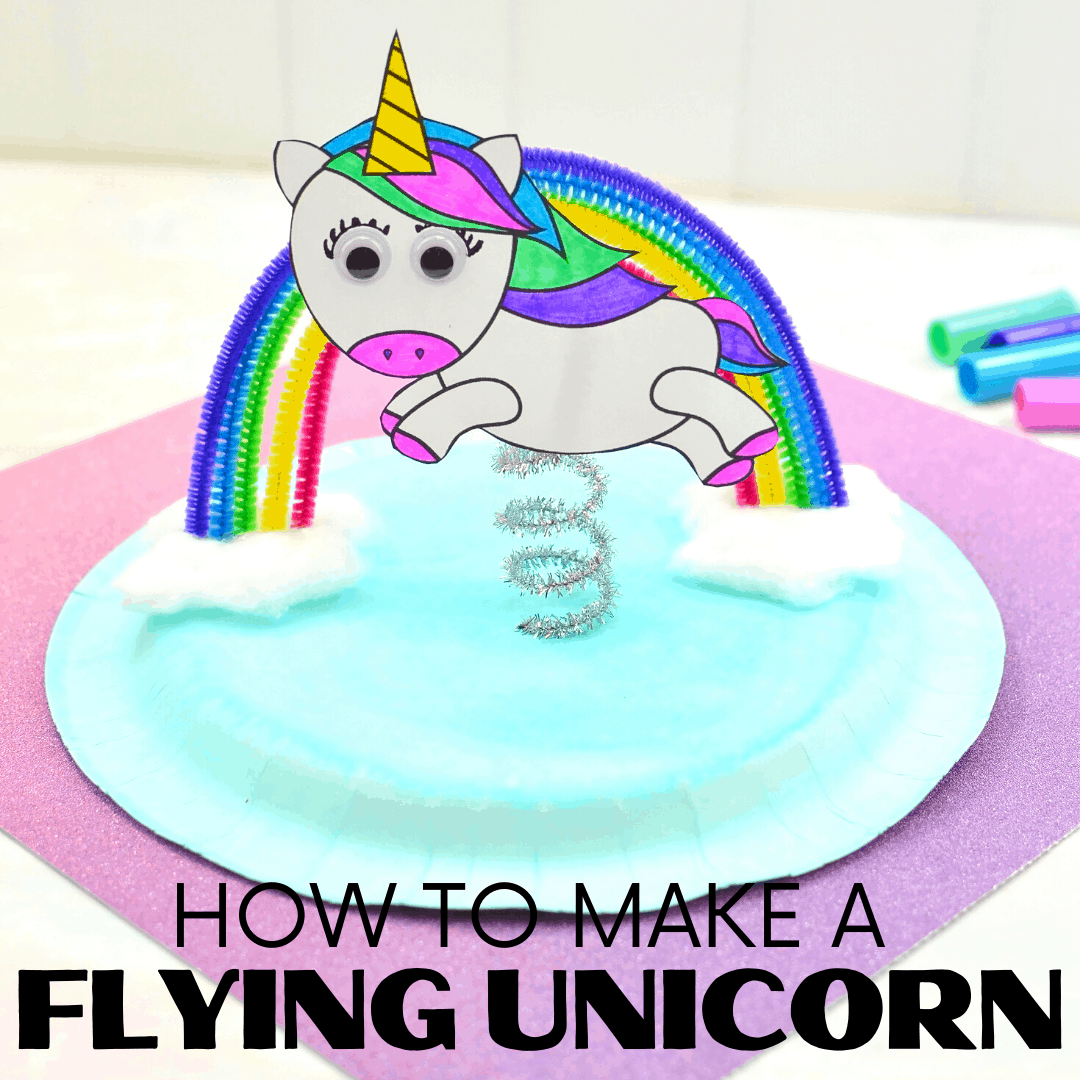 Do your kids love unicorns? If so, you NEED this unicorn paper plate craft! To make it easy for you, I've got a free unicorn template for you, too!