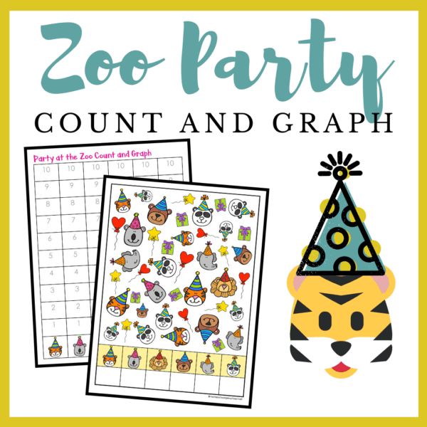 This zoo animals count and graph activity pack is a great way for preschoolers to practice counting and graphing skills all year long!