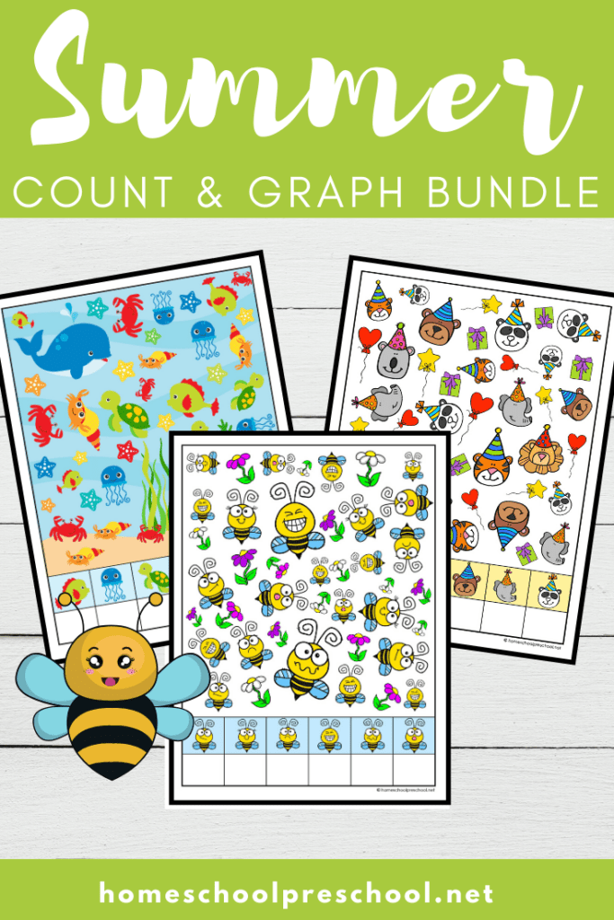 Be sure to add these fun summer count and graph worksheets to your preschool activities! They're perfect all season long!