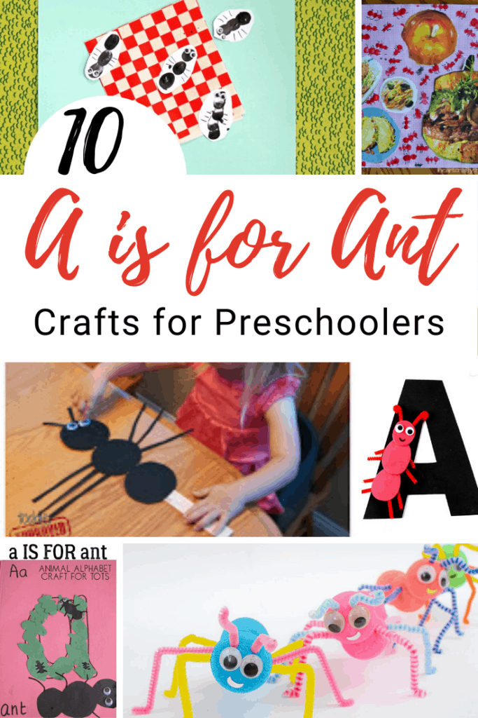 Ant crafts for preschoolers are perfect for spring and summer months! You can add them to your letter Aa, insect, or picnic themed units.