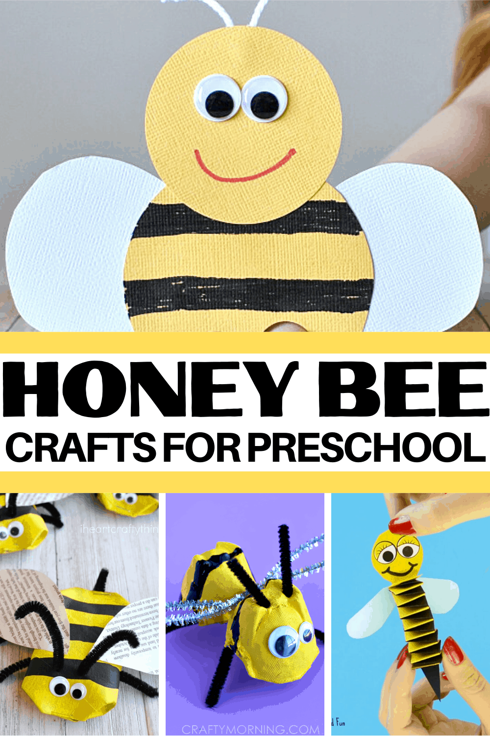 Fly on over and check out these adorable bee crafts for kids. They are perfect for your spring and summer preschool crafting sessions.