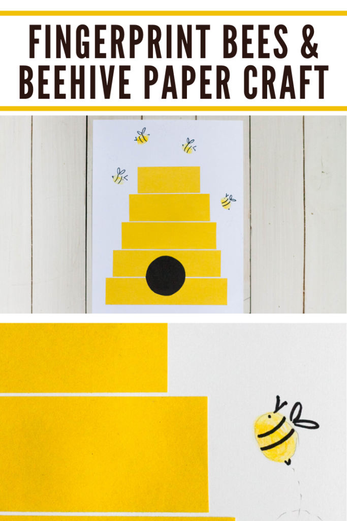 This beehive craft for preschoolers is simply adorable! Fingerprint bees add to the playfulness of this paper craft that's perfect for spring and summer.