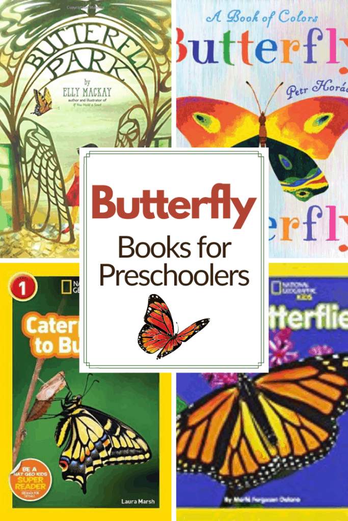 Use these butterfly books for preschoolers to teach your little ones all about caterpillars, butterflies, and the life cycle of a butterfly!