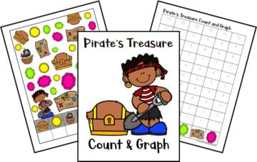 This pirate count and graph activity pack is a great way for preschoolers to practice counting and graphing skills all year long!