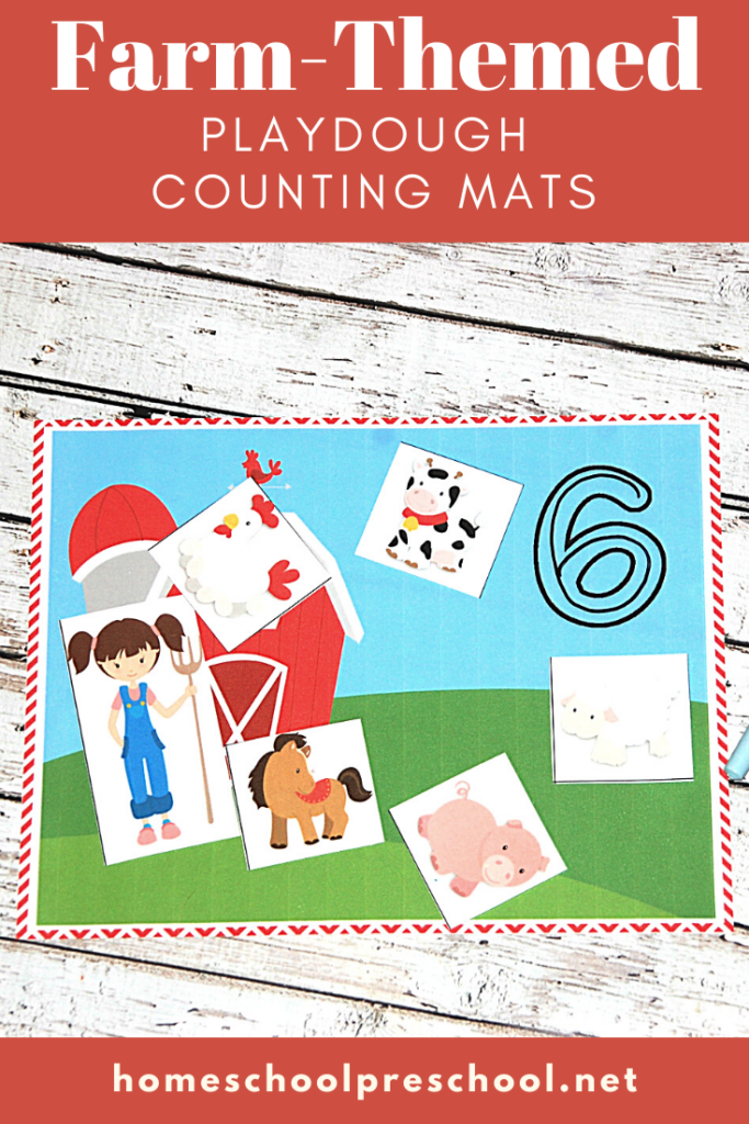 Preschoolers will practice counting to twenty with these free farm theme preschool counting mats. These make a great addition to your math centers!