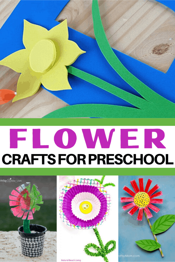 Spend time this spring and summer making a few of these preschool flower crafts. 30 simple flower ideas for your young crafters!