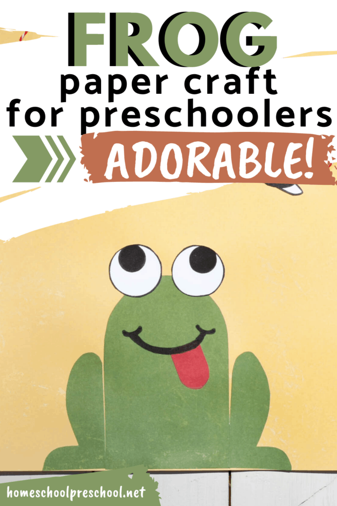 What an adorable frog paper craft for kids! The printable frog craft template makes it easy for kids of all ages to make this one.