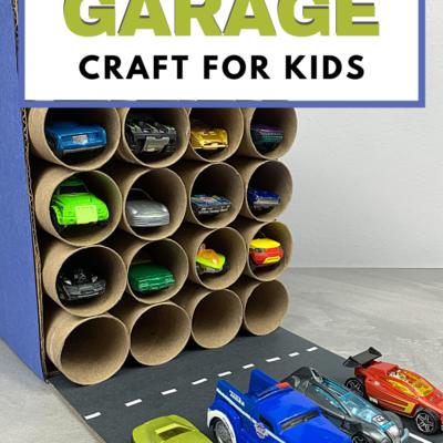 DIY Cardboard Tube Garage Craft