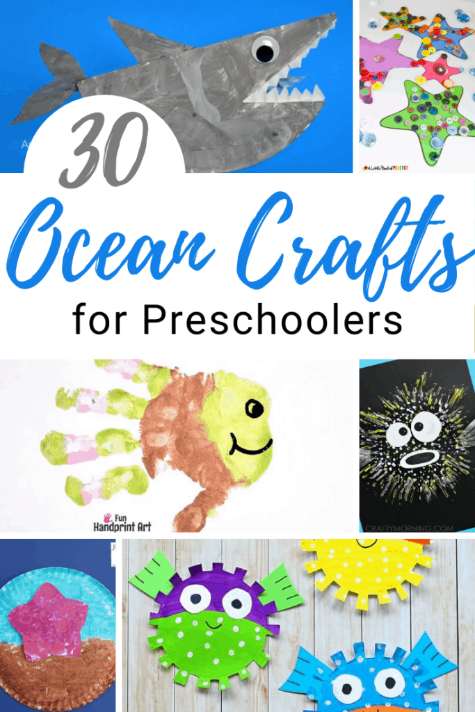 Are you looking for something fun for your kids to do this summer? How about making one of these fun ocean themed crafts for preschool!