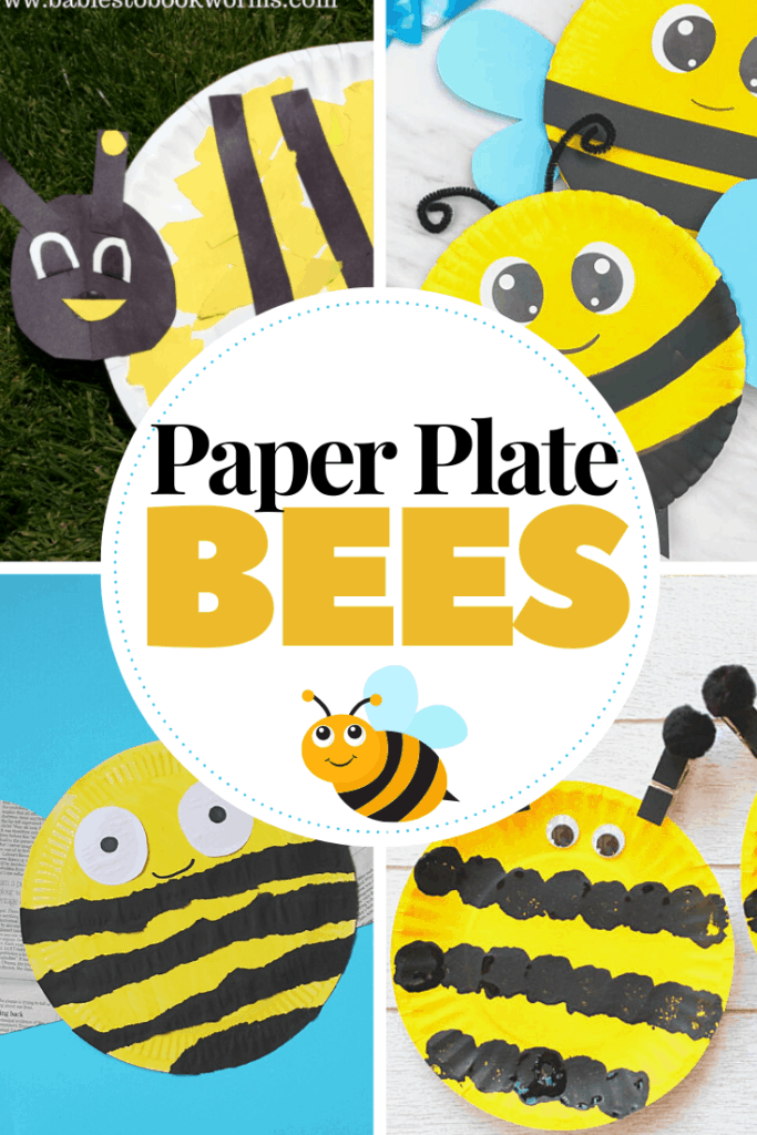 No matter which one of these paper plate bees you choose, your preschooler will love it! These are perfect for spring and summer crafting sessions.