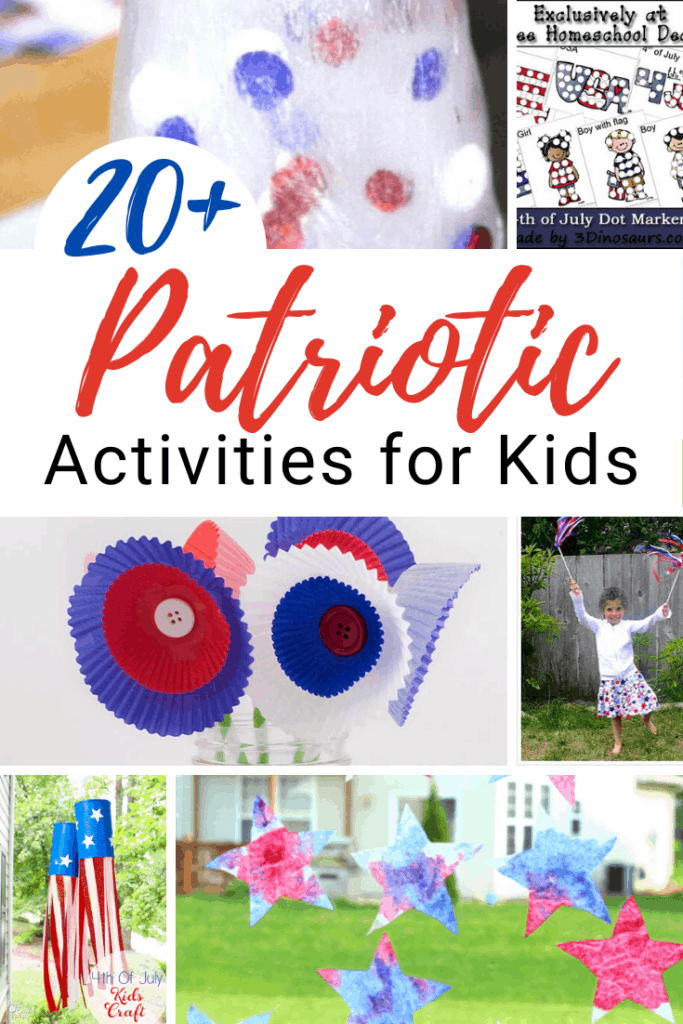 Your little ones will love learning about and celebrating Memorial Day and Fourth of July with this collection of fun patriotic activities for kids.
