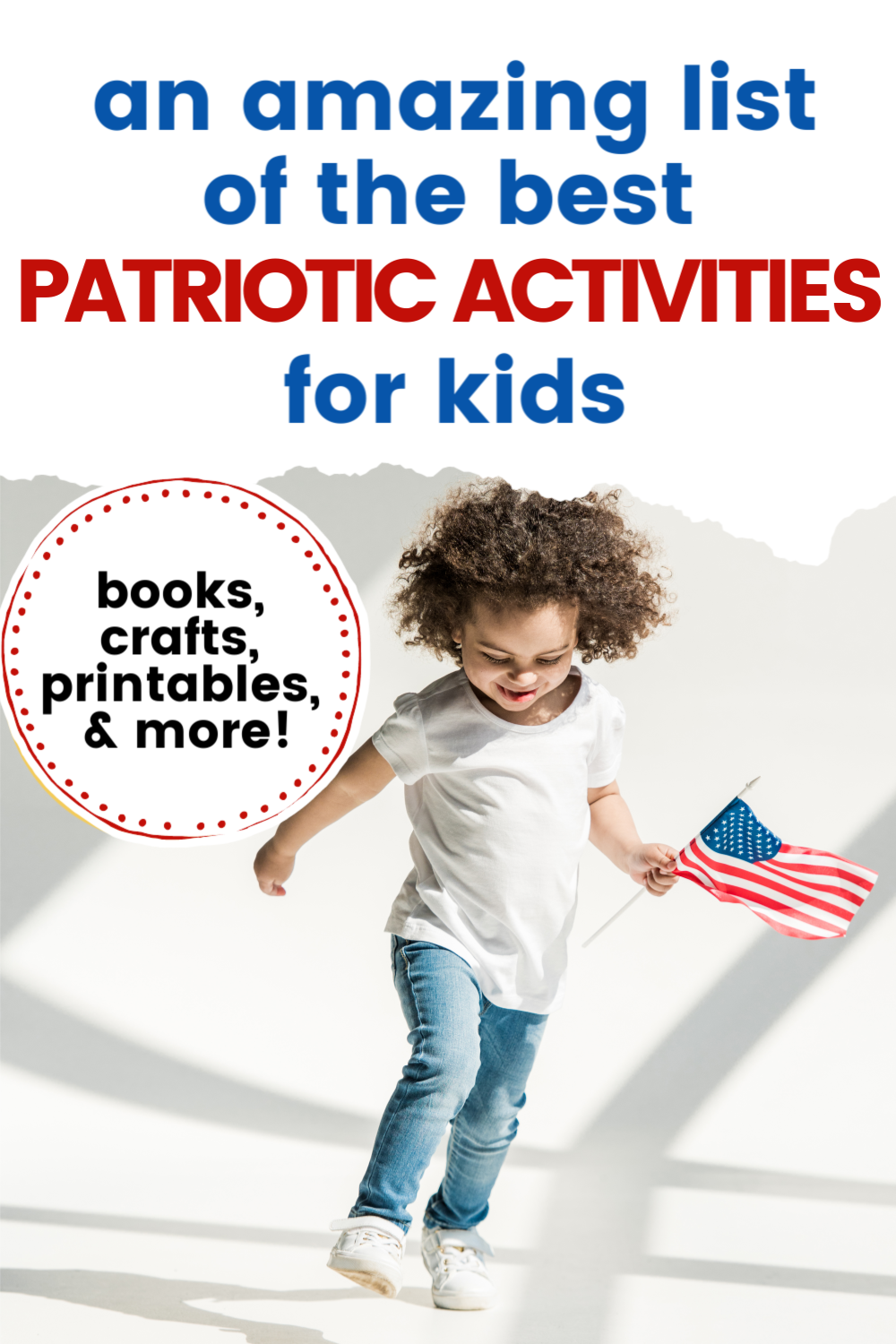 Check out this amazing collection of patriotic activities for preschoolers. They're perfect for Fourth of July, Veterans Day, and Memorial Day!