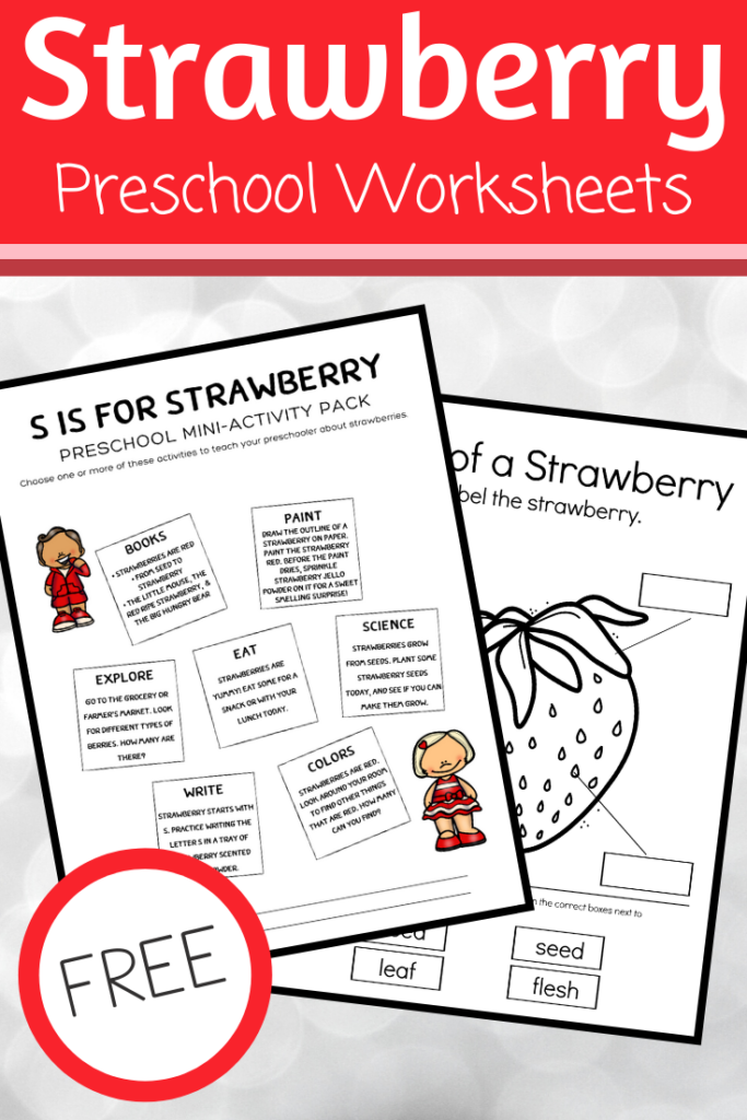 These strawberry worksheets are perfect for summer lesson plans for preschoolers. Includes science, books, art, and more!