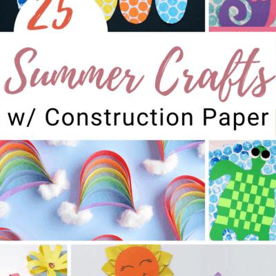 Summer Construction Paper Crafts