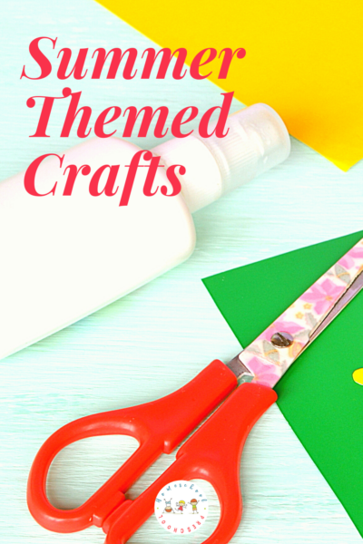 As the temperatures rise, you may need to find some indoor things for your preschoolers to do. Try one or more of these summer themed crafts!